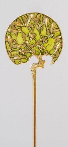 René Lalique-Art Nouveau plique-à-jour enamel pin #GoldJewelleryArtNouveau