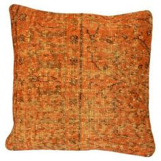 Check out this item at One Kings Lane! Orange Overdyed Turkish Rug Pillow