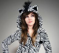 Hoodie made of black&white zebra fleece. Cats ears are designed so that it never fell, even when jumping, bounding, even after many washings. The