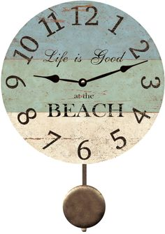 Minus the swinging piece.. Make a HUGE version of this clock for the wall ??