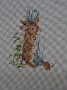 Peter Rabbit Cross stitch Needlepoint art vintage by ArtfulHeart