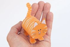 ginger paper cat to download and make ginger the cute papertoy cat is ...
