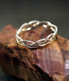 Reserved Hand Braided Sterling Silver Rings - quantity 3 - Sizes 7.5, 9, and 11 - 18ga