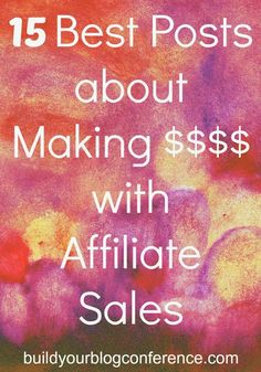 The 15 Best Posts about Making Money with Affiliate SalesHow to make money with affiliate sales – a case studyThe Ultimate Guide to Making Money with the Amazon Affiliate Program