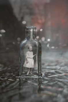 Old Soul Captured in a Bottle ~ stunning photography work by artist Marc Yankus Photomontage, Photoshop, Old Soul, Surreal Art, Photo Manipulation, Dark Side, Altered Art, Enchanted, Alice In Wonderland