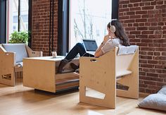 Good Mod, a Portland, Oregon, studio and retailer, develops an inventive furniture model for the 21st-century office.