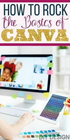 Learn how to rock the basics of Canva. Simple graphic design can ease business stress while also helping you monetize and create passive income! Design Social, Web Design, Graphic Design Tools, Tool Design, Photoshop, Make Money Blogging, Blog Tips, Social Media Graphics, Making Ideas