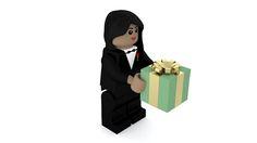 Modelo de LEGO para feliz aniversário feito no Blender. imagem 6