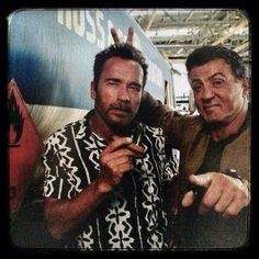 The Expendables cast ~ Stallone & Arnold!