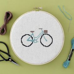 Stitch a Simple, Sweet Little Bicycle – Cross-Stitch