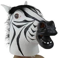 TOOPOOT(TM) Zebra Mask Latex Animal Costume Prop for Halloween