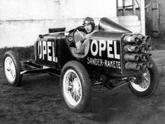 Yes, I know I have twelve rockets strapped to my ass... your point?    Rocket_powered 1928 Opel land speed racer