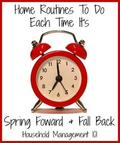 Household hack: Use the memory jog of Daylight saving time, with spring forward and fall back, to remember to do some household chores you don't have to do very often!
