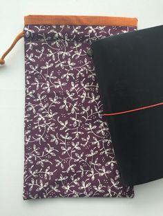 Midori Traveler's Notebook Bag Drawstring by LowlandOriginals on Etsy Notebook Bag, Travelers Notebook, Moleskine, Buy And Sell, Fabric, How To Make, Handmade, Diy, Bags