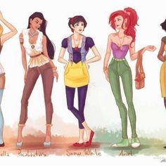 Hipster Disney Princesses!