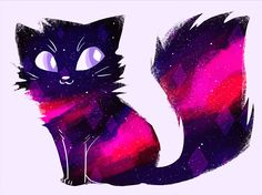 "414a4c: "" space kitty @dailycatdrawings "" Beautiful!"