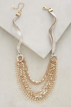 This Anthropologie Lipari Layer Necklace is a beautiful wedding piece.