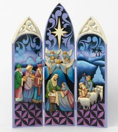 Christmas Nativity Triptych by folk artist Jim Shore. Jim Shore Christmas, Blue Christmas, Christmas Images, A Christmas Story, Christmas Projects, Vintage Christmas, Christmas Holidays, Christmas Nativity Scene, Christmas Ornaments