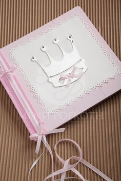 Girl's Christening pink wooden guest book with metal crown Metal Crown, Girl Christening, Books For Boys, Boy Or Girl, Albums, Pink, Ideas, Girl Baptism, Hot Pink
