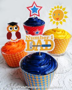 A large collection of printable seasonal cupcake toppers and wrappers