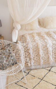 Moroccan Wedding Blanket, Shag Rug, Bed, Vintage, Home Decor, Shaggy Rug, Decoration Home, Stream Bed