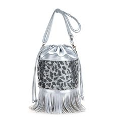 Metallic Spain Metal Bucket Handbag