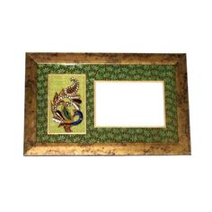 Wooden Peacock Patterned Photo Frame, Green - FOLKBRIDGE.COM | Buy Gifts. Indian Handicrafts. Home Decorations.