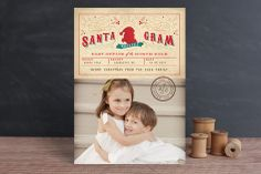 Santa Gram Christmas Photo Cards by Lori Wemple at minted.com