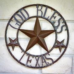 Texas Metal Art God Bless Texas - Texas Wall Decor