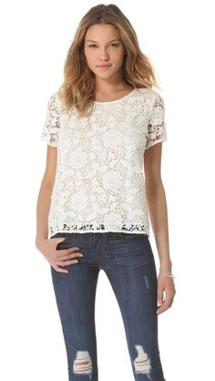 lace t-shirt / madewell