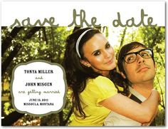 Save the Date Postcards Picturesque Script - Front : Bark