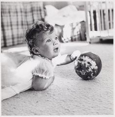 Caroline Kennedy in her nursery, 1958.