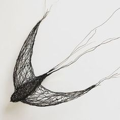 I have been busy drawing and making swifts before they depart our shores and head south for another year. This life-size 3D wire swift is now for sale in my web shop. It hangs directly on the wall. £250.00. I also have some new greetings cards for sale in my shop as well! #wirescuplture #wiredrawing #swift Chicken Wire Sculpture, Wire Art Sculpture, Sculptures, Wire Wall Art, Tattoo Hals, Wire Drawing, Art Du Fil, Creation Deco, 3d Pen