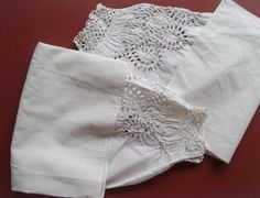 1850s/1860s Antique Victorian Lawn False Sleeves with Whitework