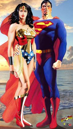 Wonder Woman and Superman by Alex Ross