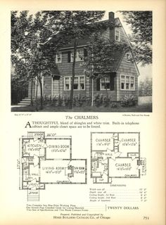 The CHARLMERS - Home Builders Catalog: plans of all types of small homes by Home Builders Catalog Co.  Published 1928
