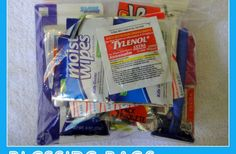 Blessing Bags for the Homeless. I first heard of this from the site The Birthday Project when the owner did this. Wonderful site to browse through. ~TR
