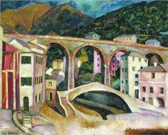 Italy. Nervi. Landscape with aqueduct - Ilya Mashkov