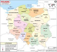 Carte de la #Pologne
