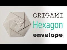 Origami Hexagonal Envelope / Pouch Tutorial ⬢ DIY ⬢ - Home Made Art Useful Origami, Origami Easy, Origami Paper, Diy Paper, Paper Crafts, Oragami, Origami Folding, Foam Crafts, Diy Pouch Tutorial
