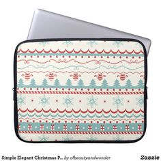 Choose from a variety of Elegant laptop sleeves or make your own! Shop now for custom laptop sleeves & more! Elegant Christmas, Christmas Time, Christmas Crafts, Office Christmas Decorations, Custom Laptop, Personalized Products, Laptop Sleeves, Zip Around Wallet, Simple