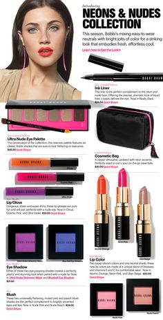 Neon & Nudes  Bobbi Brown