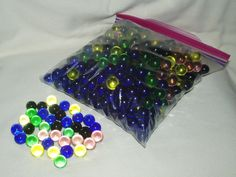 Marbles Glass Translucent Multi-colored 500 pcs by WMCraftSupplies
