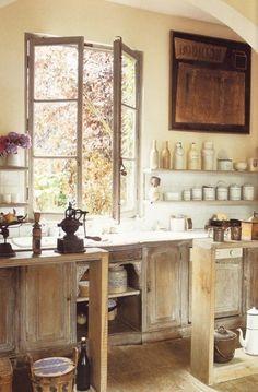 Rustic Kitchen Open Kitchen, Rustic Kitchen, Kitchen Dining, Kitchen Decor,  Kitchen Windows
