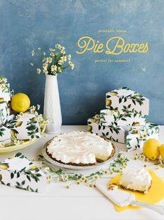 Printable summer pie boxes