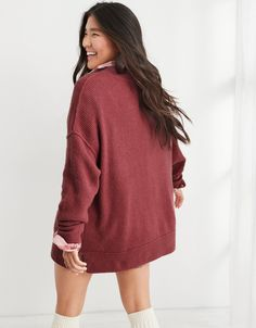 Aerie CozyUp Ribbed Sweater