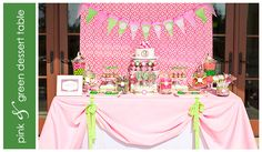 Pink & Green girl Table