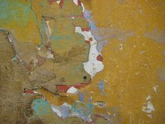 Rich ochre and bright viridian Textures And Tones, Textures Patterns, Rust Never Sleeps, Cracked Paint, Peeling Paint, Repurposed Items, Yellow Painting, Artsy Fartsy, Art Lessons
