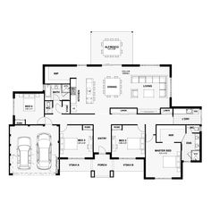 Discover The Leeuwin, House design by Ben Trager Homes in WA. Match with land for sale to create your own house and land package. Sims House Plans, House Layout Plans, New House Plans, House Layouts, House Floor Plans, Floor Plan 4 Bedroom, 4 Bedroom House Plans, The Plan, How To Plan