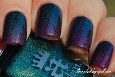 Gradient Holo Nails- A England Saint George and Color Club Wild At Heart